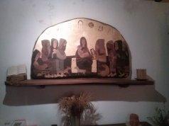 Maria Universale, i 7 santi fondatori, nell'icona di Margherita Pavesi