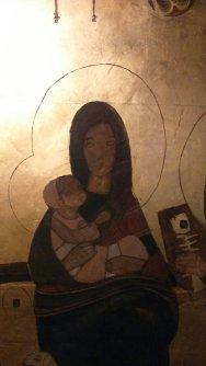 Maria e il bambino nell'icona di Margherita Pavesi